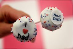 I Love Dad Cake Pops