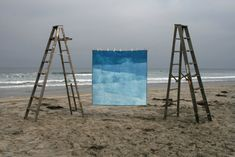 Would need a king size but wow! Love this! WAVES Quilt modern geometric blue handdyed organic by FirstShelter, $810.00