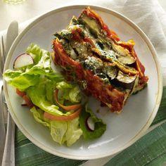 Spinach-Eggplant Lasagna Loaf  #recipe #vegetarian #lasagna