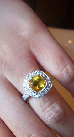nice yellow sapphire engagement ring... by pengrin™