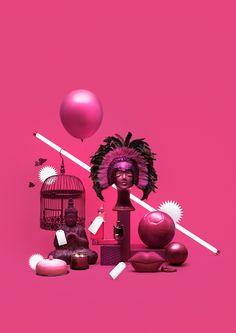 Monochrome Pink setup