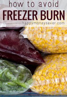 I love freezer meal cooking! Here are the best ways to avoid freezer burn - great ideas! #freezerburn #freezermeals