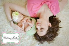 Newborn baby & mom.  Top Newborn Photographer | Brittany Gidley Photography LLC