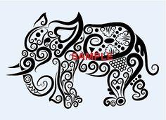 Tribal Elephant Cross Stitch Chart now at www.crossstitchchartheaven.co.uk #xstitch #crafts