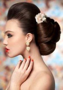 Bride's classic bouffant French chignon bridal hair ideas Toni Kami Wedding Hairstyles ♥❷ wedding hairstyle ideas