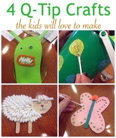 4 Q-Tip Crafts for Kids - FamilyCorner.com