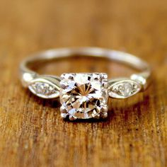 Diane Vintage Platinum and Diamond Engagement Ring circa 1950. via Etsy. this, just this