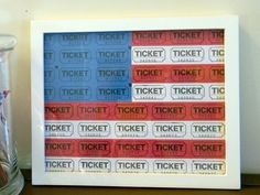 Make Carnival Ticket American Flag Art