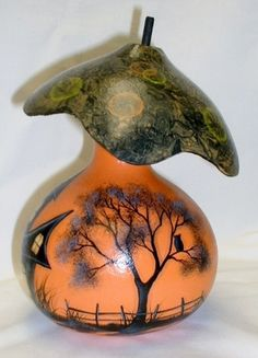 Halloween Fairy Gourd Mushroom House Hand by FromGramsHouse