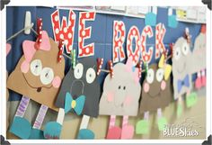 First Grade Blue Skies: For Those About To Rock… Rock Study and craft