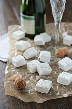 Homemade Champagne Marshmallows by @CookieMonsterCooking
