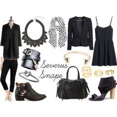 severus snape, inspir fashion, inspir outfit, fandom fashion