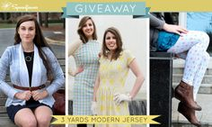 Check out this week's giveaway from Spoonflower-- a chance to win three yards of Modern Jersey!