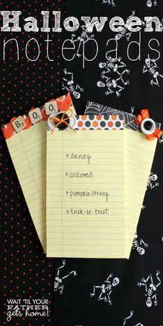 DIY Halloween Notepad