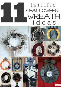 11 Terrific DIY Halloween Wreaths | InspirationDIY.com