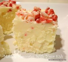 white chocolate peppermint fudge-  will be so good in December!