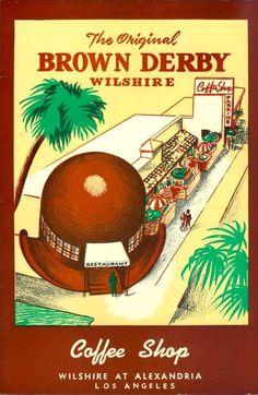 A Brown Derby menu cover, circa 1950.
