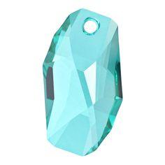 6673 28mm Light Turquoise Swarovski Elements Crystal Meteor Pendant   Fusion Beads