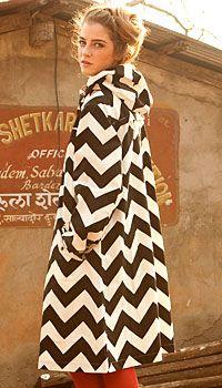 zigzag-y coat from Gudrun Sjödén