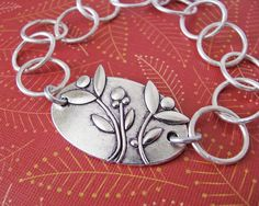 blooming flowers silver charm bracelet by juliethefish designs