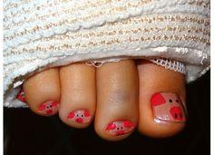 Piggy toenails