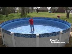 Another variation of an above ground pool installation part 2. http://www.youtube.com/user/FamilyLeisure?feature=watch