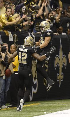New Orleans Saints WRs Marques Colston and Lance Moore #Saints #NOLA #WhoDat new orleans saints, saint wrs, orlean saint, saint nola