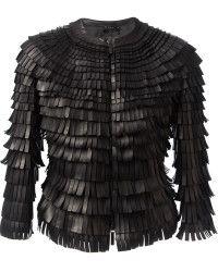 I need some fringe benefits! Gimme it!  #GiorgioArmani Fringed Coat - Lyst