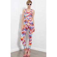 Paint Splatter Backless Jumpsuit   MakeMeChic.com