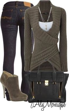 Adorable sweater and jeans for cute teens 2014 | Fashion World
