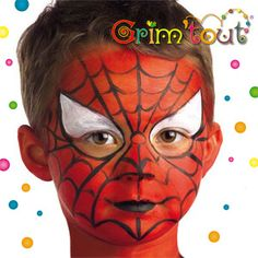 Maquillage enfants Spiderman.  Maquillage sur notre site: http://www.feezia.com/univers/accessoires-de-fete/maquillage-1/boite-de-6-crayons.html