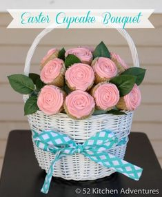 Easter Cupcake Bouquet~ She will be live streaming on local Fox 40, 10amPST. Click on this picture for more information.