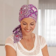Beautiful,  patterned head scarf // Wigs and Hair Replacement