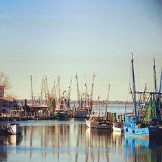 Shem Creek shrimp boats. Photo by explorecharleston • Instagram