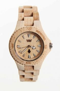 JackThreads - DATE Wooden Special Edition Watch Beige - StyleSays