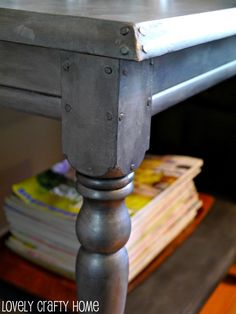 faux zinc finish- restoration hardware knock off