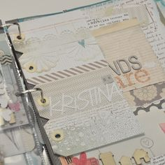 row of luggage tags as a page insert - no page protector.  love it! by kristina n-w.