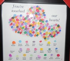 A cherished gift for any teacher with her student's names and fingertip prints. We gave it to her for Valentine's Day but it can be an end of the year gift as well.
