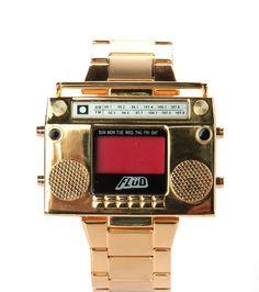 El reloj grabadora.