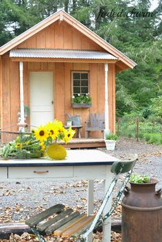 Rustic shed with covered porch outside pinterest for Rustic shed with porch