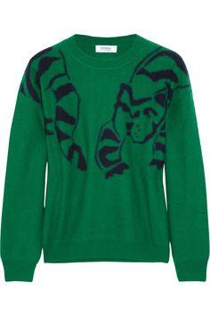 Sonia by Sonia Rykiel|Intarsia wool and raccoon-blend sweater|NET-A-PORTER.COM