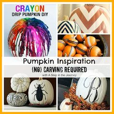 Great ideas for decorating a pumpkin WITHOUT having to carve it!! This is just what I need!
