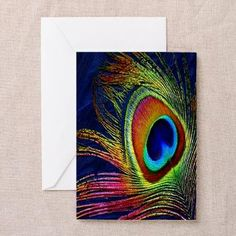#Peacock #Feather 10 pack of Greeting Cards by Lee Hiller