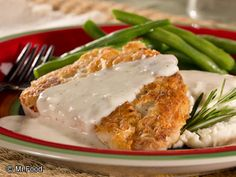 Backwoods Pork Chops with River Gravy - Takes only 20 minutes to cook. A true southern favorite!