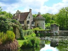 scotney castle situated in the picturesque countryside of tunbridge wells, england in 1378-1380