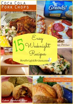15 Easy Weeknight Recipes guaranteed to help you have dinner on the table in no time! #food #recipes #dinner
