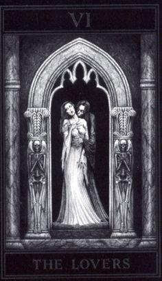 the gothic tarot, art, tarot cardsmajor, cardsmajor arcana, lover, card deck, joseph vargo tarot