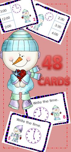 adorable TIME SAVING time task cards that are READY TO USE $