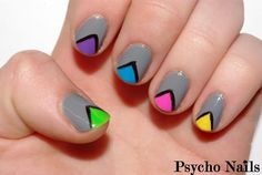 retro nail art.