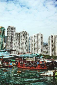 Aberdeen fishing village, Hong Kong